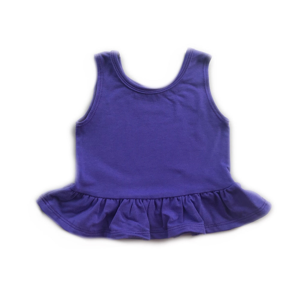 Grape Peplum Tank