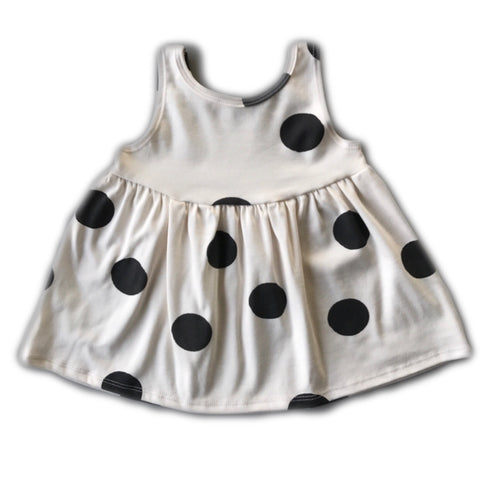 Black Dot Tank Swing Dress