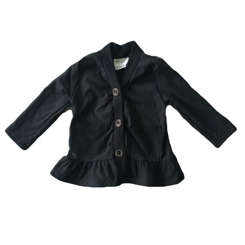Black Fleece Peplum Cardigan