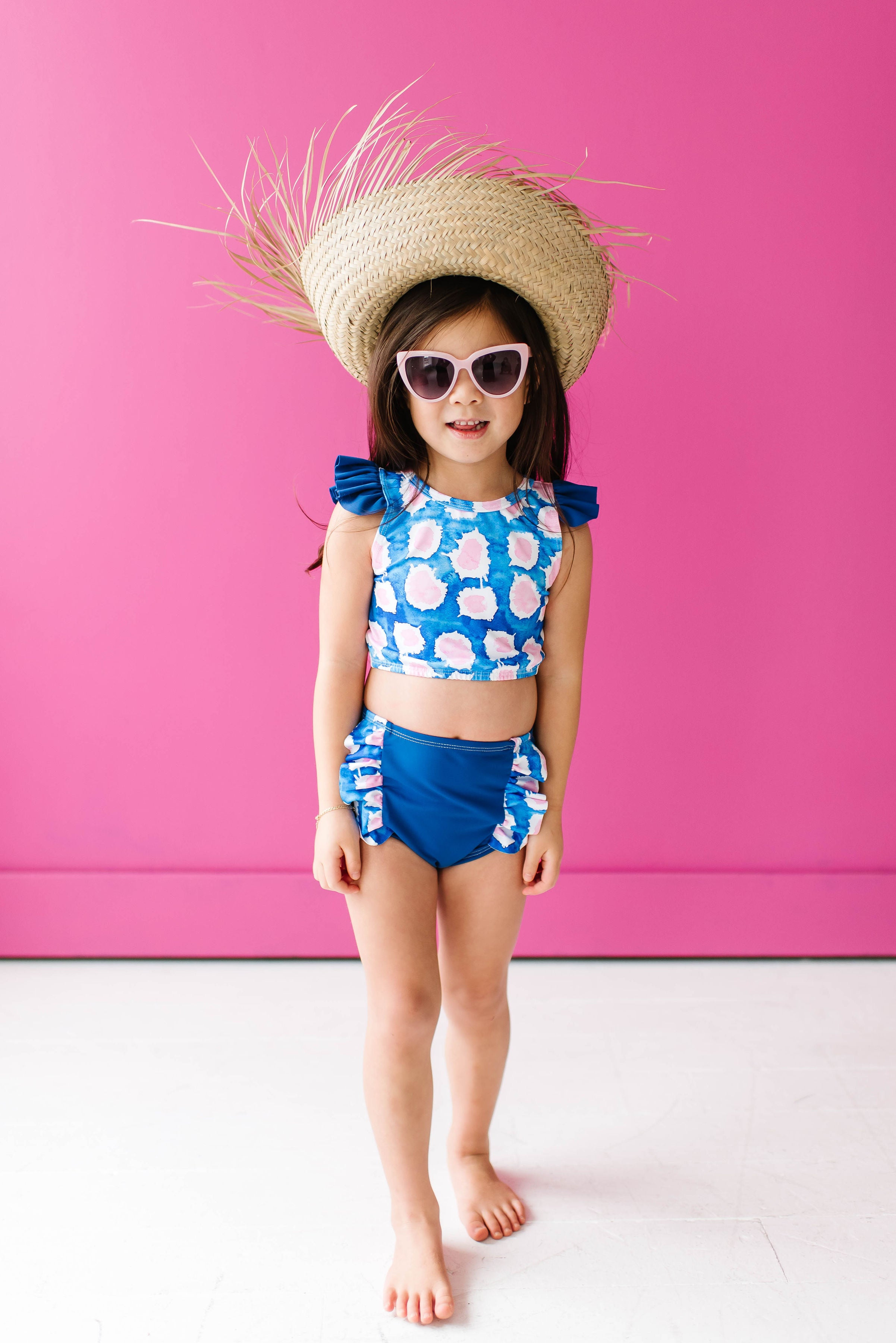 Pink Polka Royal Bathing Suit