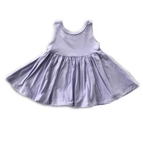Lavender Tank Twirly Dress