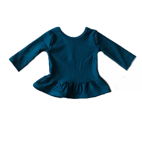 Blue Spruce Fleece Peplum Top