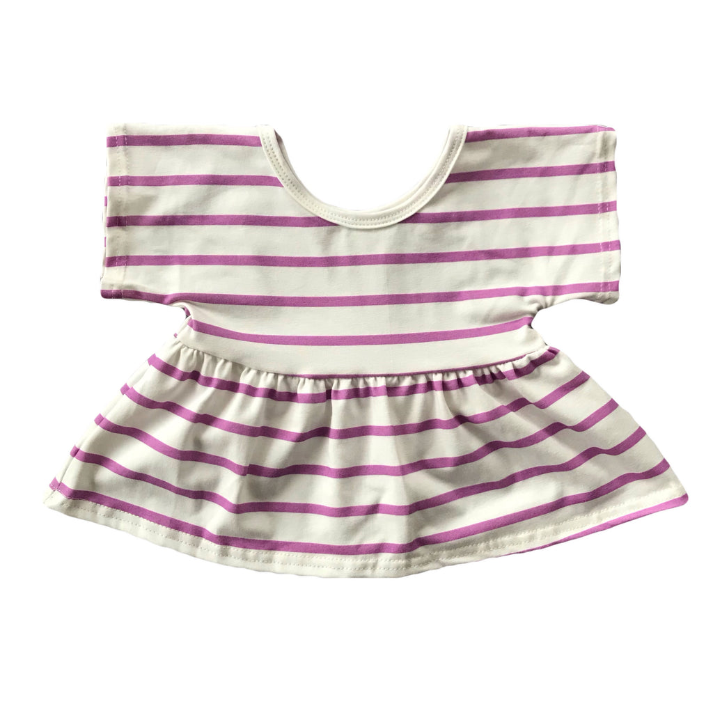 Orchid Stripe Swing Top