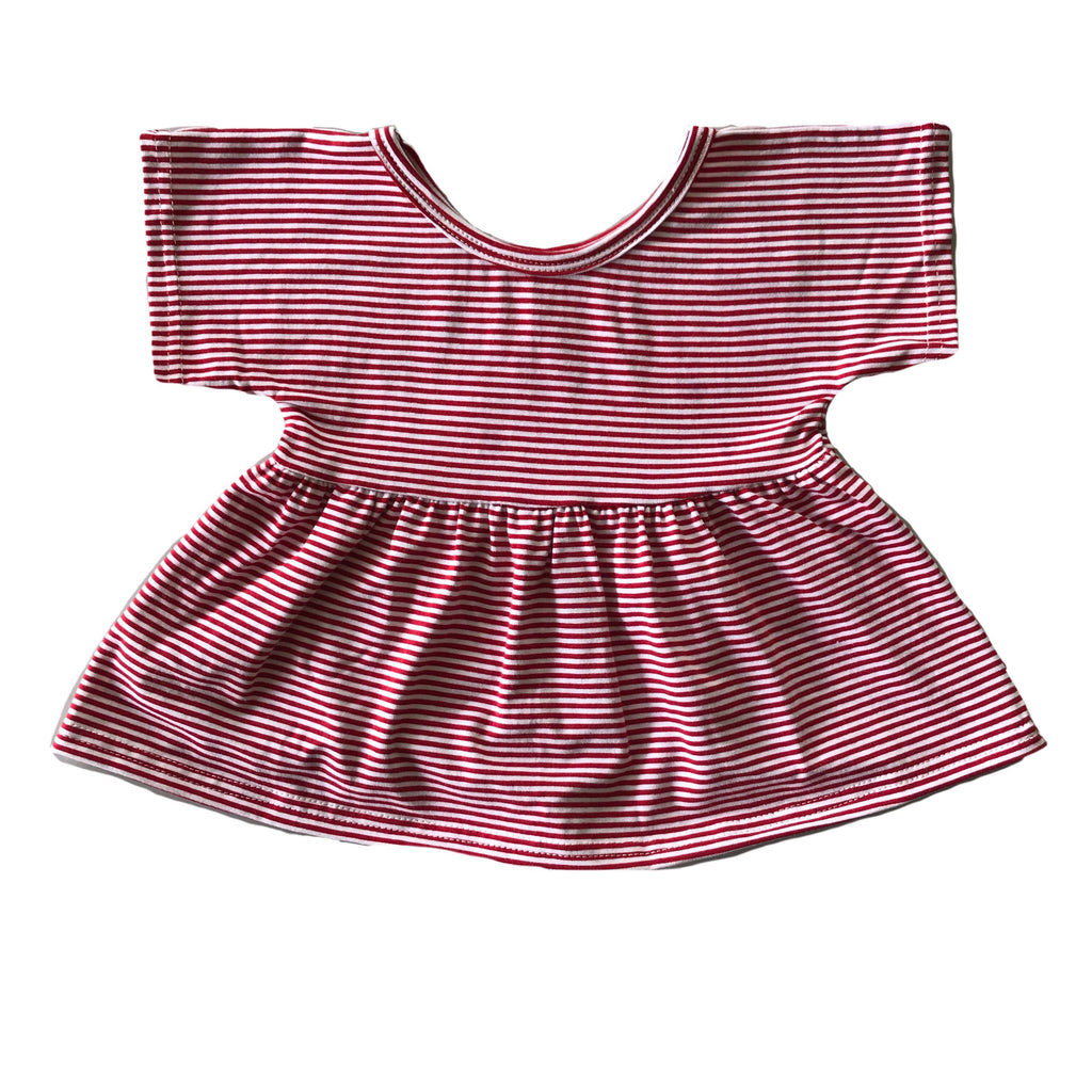 Cherry Stripe Swing Top