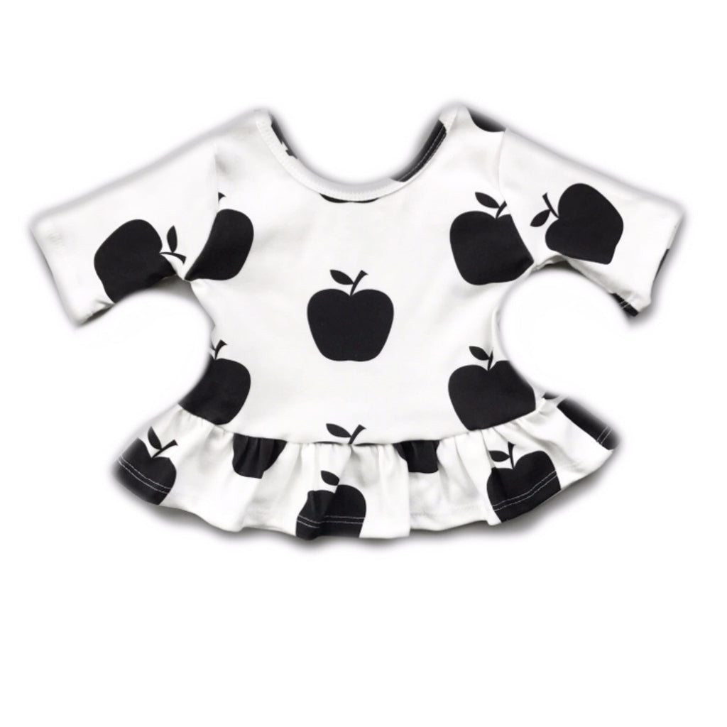 Apple Three Quarter Sleeve Peplum Top