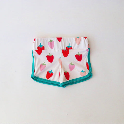 Wild Strawberry Retro Shorts