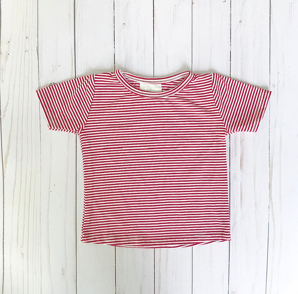 Cherry Stripe Short Sleeve T Shirt