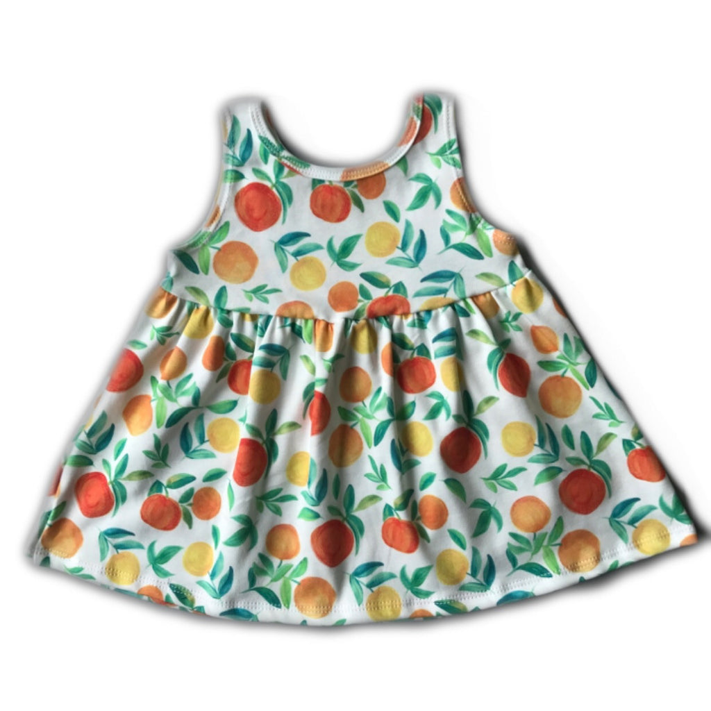 Orange Citrus Swing Dress