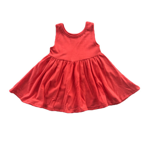 Coral Tank Twirly Dress