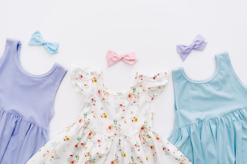 Ellia May Designs Spring Collab Bow Set