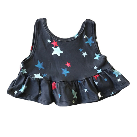 Star Crop Peplum Tank