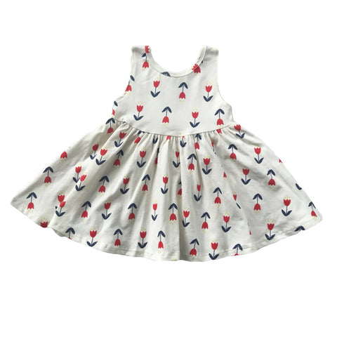 Vintage Tulip Tank Twirly Dress