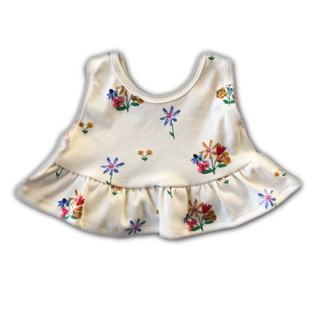 Bouquet Floral Crop Tank