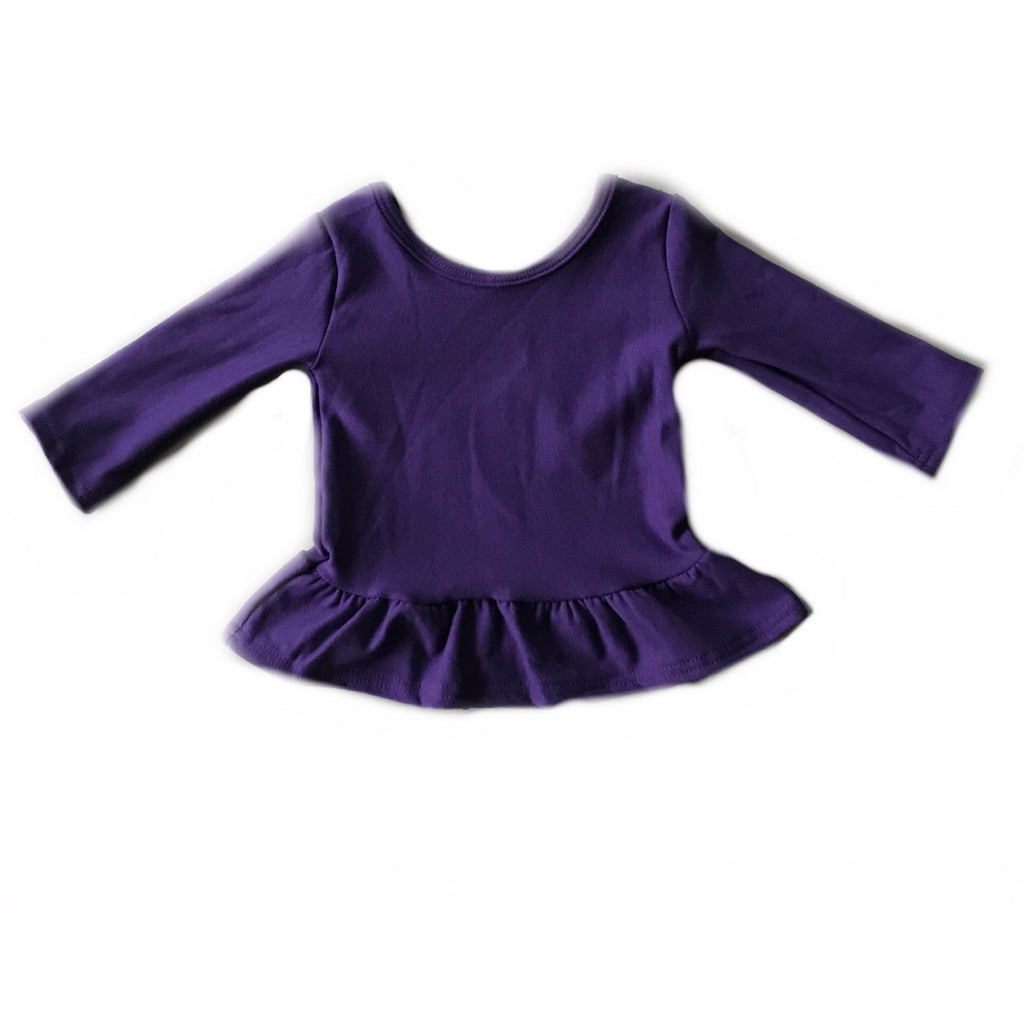 Eggplant Fleece Peplum Top