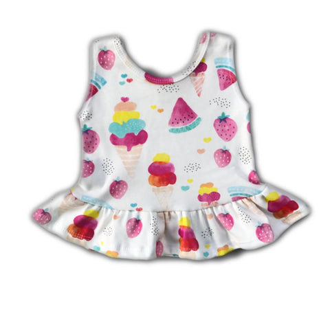 Ice Cream Peplum Tank