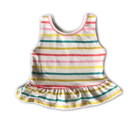 Fruit Stripe Peplum Tank