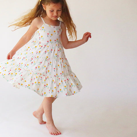 Dainty Blooms Three Tier Twirly Dress