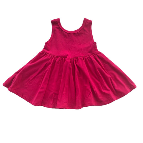 Raspberry Tank Twirly Dress