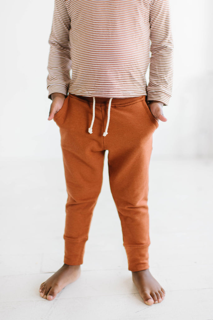 French Terry Pocket Joggers in Toffee