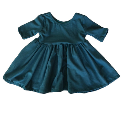 Pacific Three Quarter Sleeve Twirly Dress