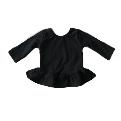 Black Fleece Peplum Top