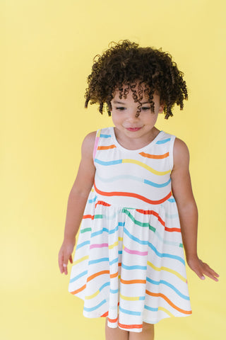 Summer Waves Tank Twirly Dress