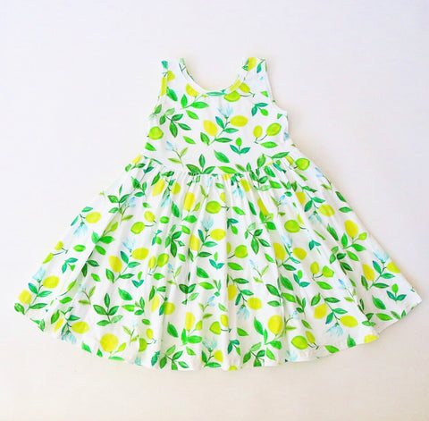 Lemon Tank Twirly Dress