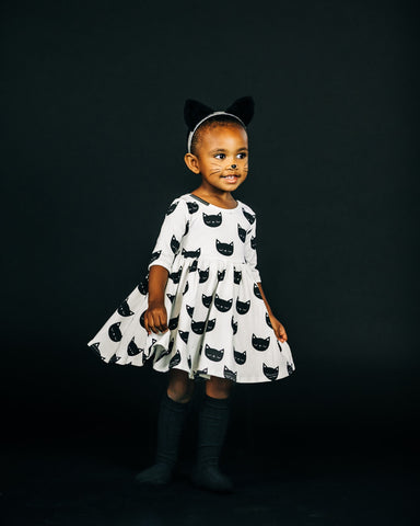 Kitty Three Quarter Sleeve Twirly Dress