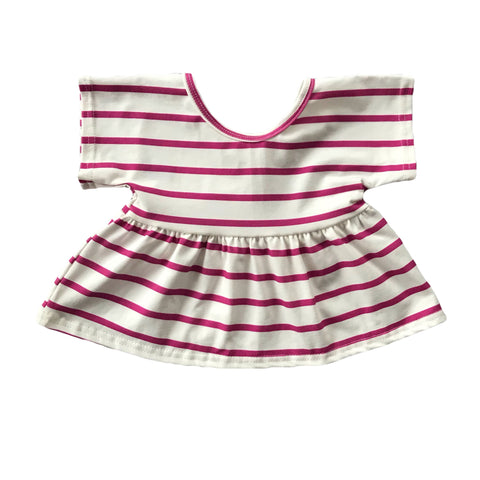 Magenta Stripe Swing Top
