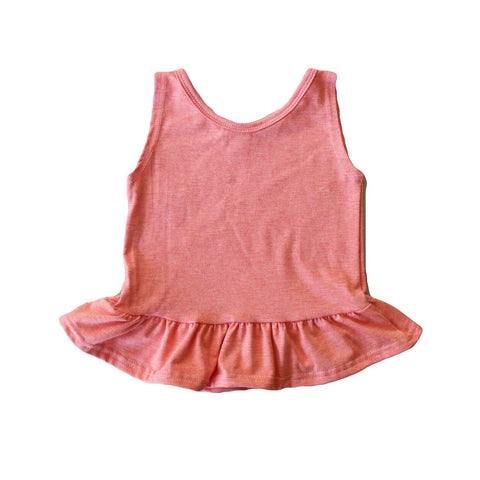Heathered Peach Peplum Tank