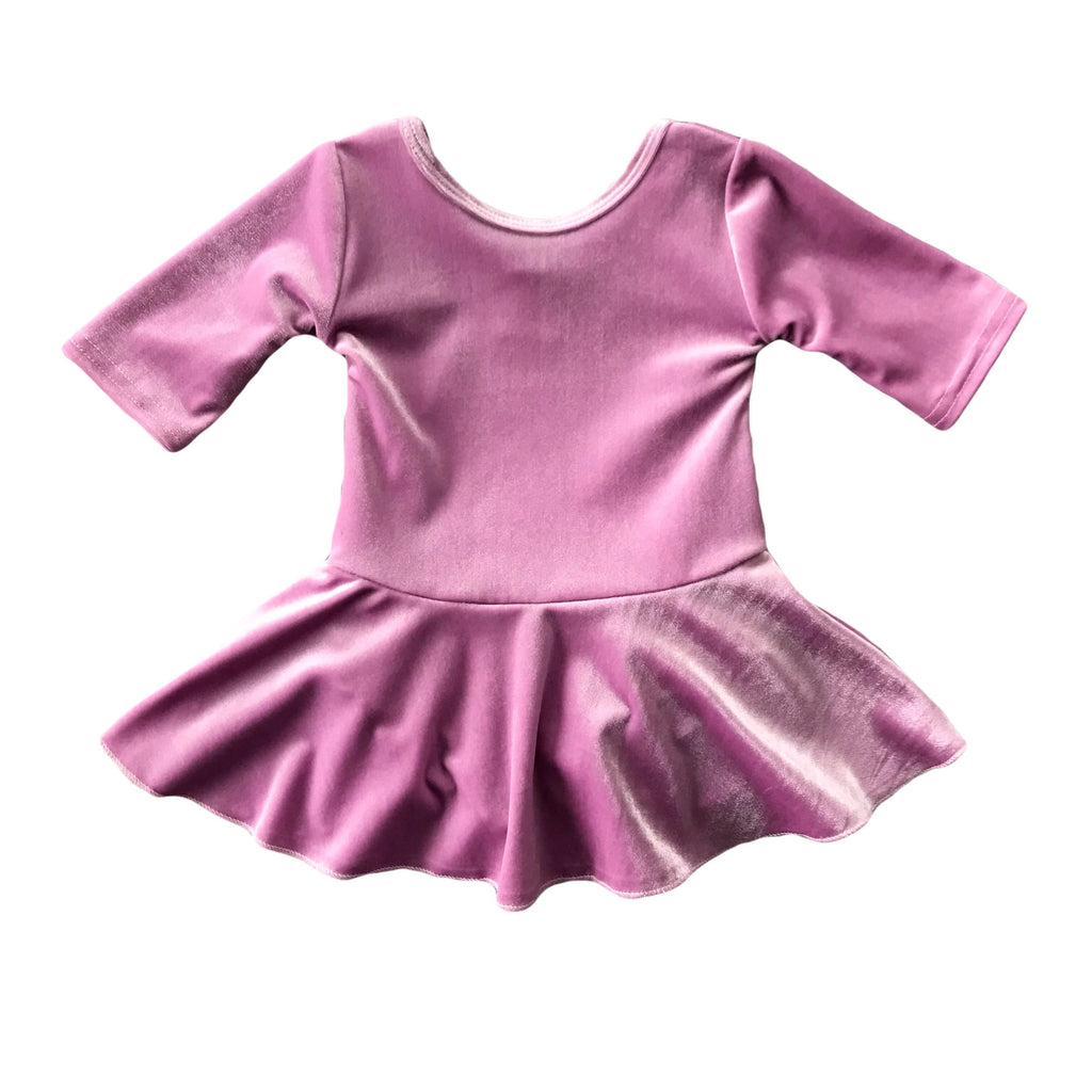 Orchid Velvet Skirted Leotard