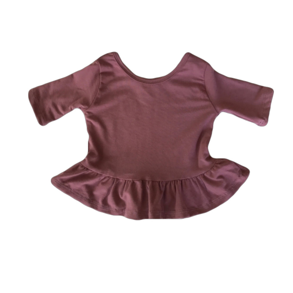 Rouge Three Quarter Sleeve Peplum Top