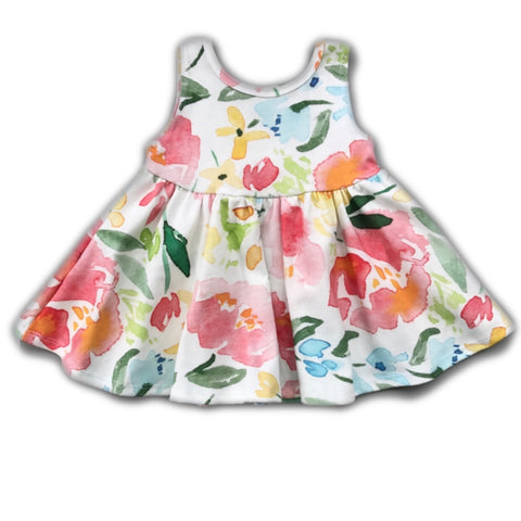 Garden Party Floral Tank Twirly Dress