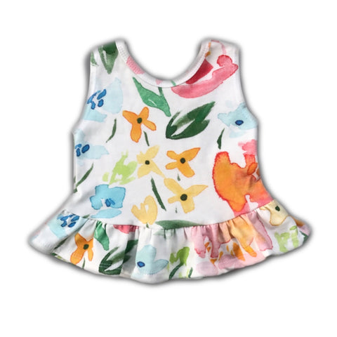 Garden Party Floral Peplum Tank