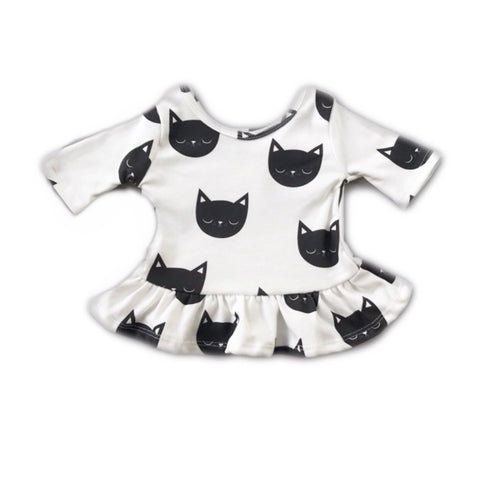 Kitty Three Quarter Sleeve Peplum Top