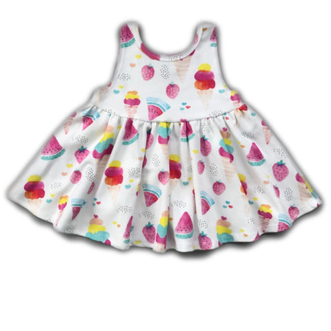 Ice Cream Tank Twirly Dress