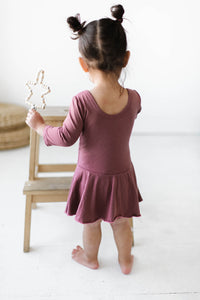 Rosewood Three Quarter Sleeve Bamboo Leotard