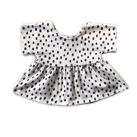 Eggplant Dot Swing Top