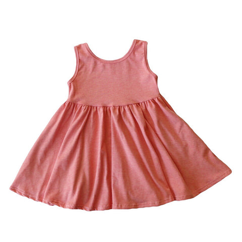 Heathered Peach Tank Twirly Dress
