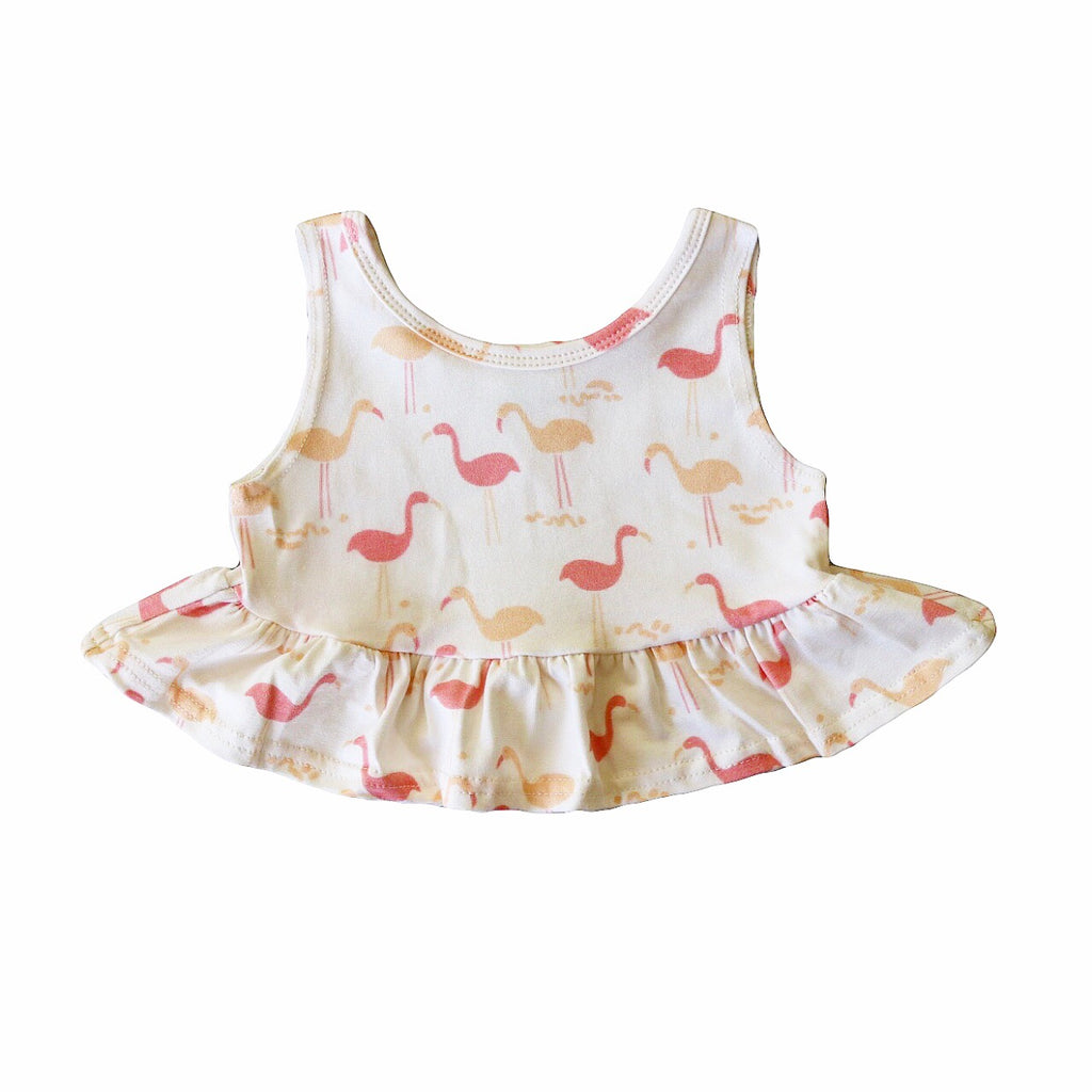 Flamingo Crop Peplum Tank