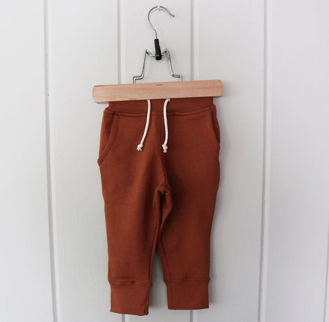 Bamboo Fleece Pocket Joggers in Toffee