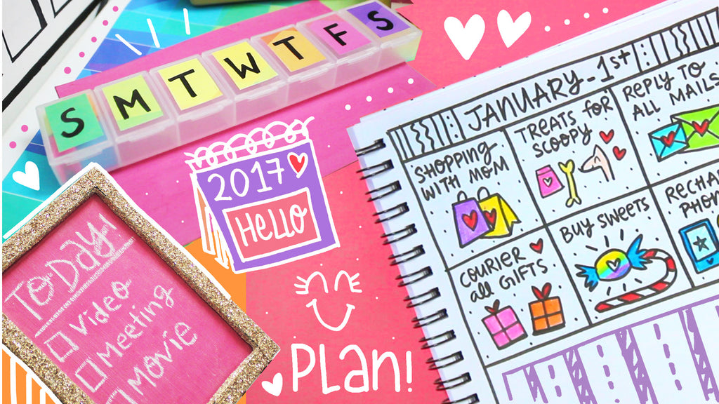 4 Easy and Colorful DIY Planner Ideas