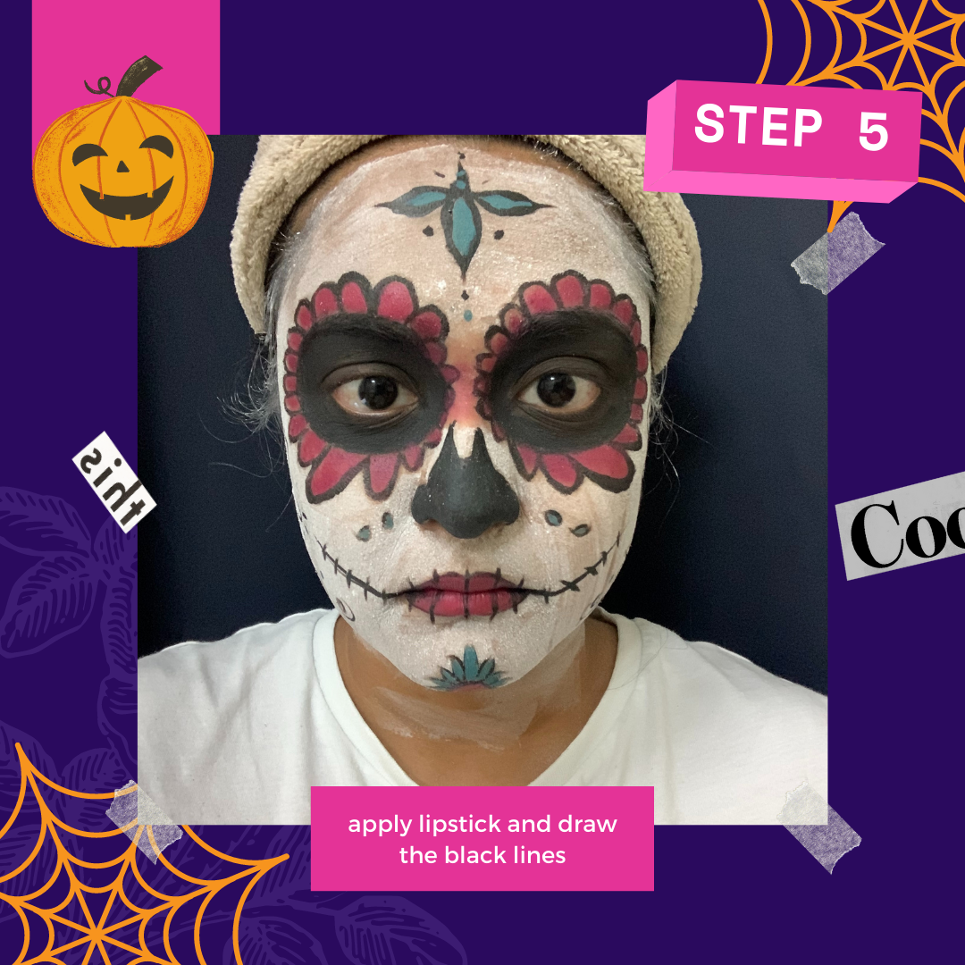 Day of the dead makeup by Baarathi Venkatesh