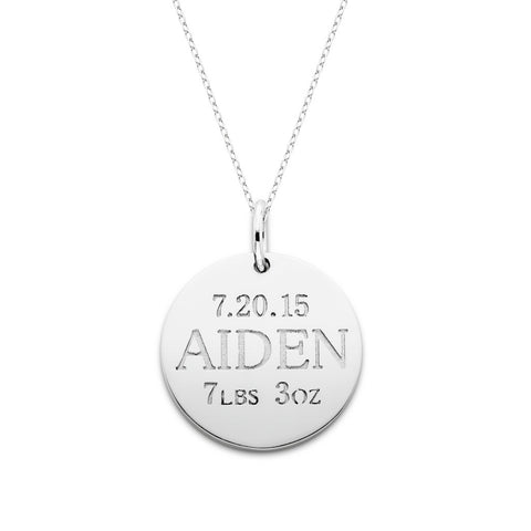 Baby Announcement Necklace