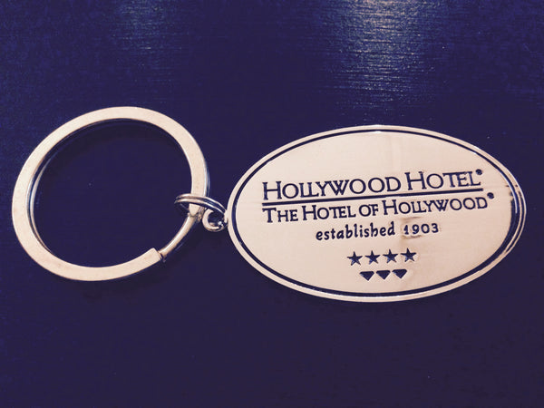 Hollywood Hotel - The Hotel of Hollywood ®  - Brass Oval Key Chain