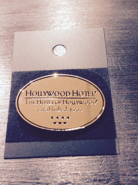 Hollywood Hotel - The Hotel of Hollywood ®  - Brass Oval Lapel Pin