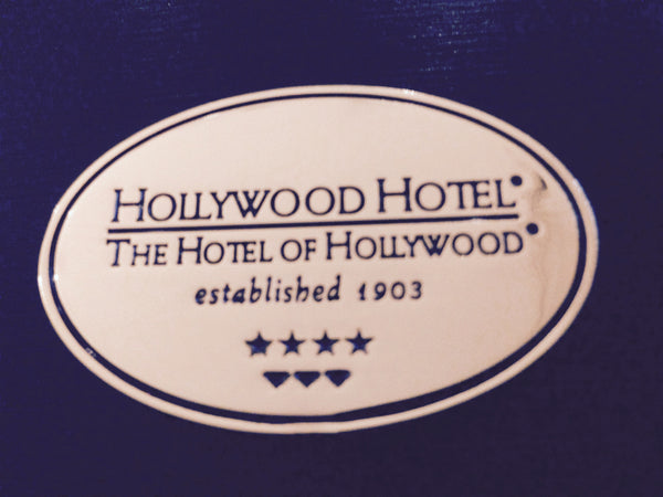 Hollywood Hotel - The Hotel of Hollywood ®  - Brass Oval Magnet