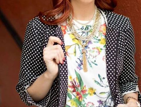 cs gems tassel necklace cs gems multi-chain necklace renuar jacket marshalls floral top