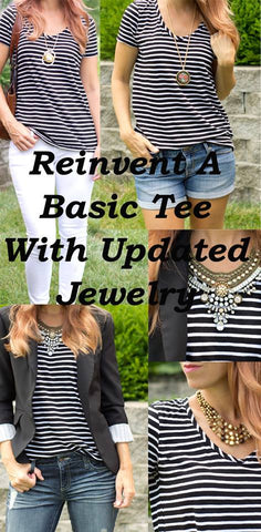 Reinvent A Basic Tee by Updating Jewelry, CS GEMS