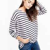 j crew striped t shirt